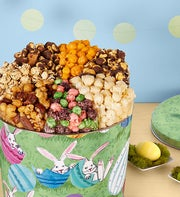 Popcorn Easter Bunny 7-Way Snack Tin
