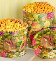 Popcorn Garden Bunny 3-Way Tin