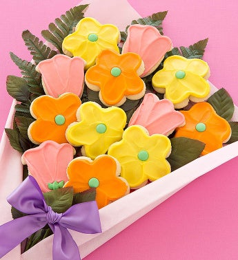 Cheryl's Spring Cookie Flower Bouquet Box