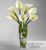 White Callas in Marchesa by Lenox� Vase