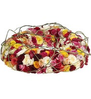 Touching Roses Funeral Wreath