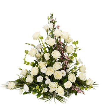 All White Funeral Arrangement