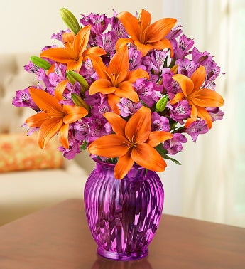 Autumn Lily and Peruvian Lily + Free Vase