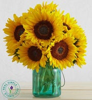 Sunflowers with Mason Jar by Real Simple�
