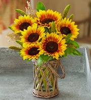 Harvest Hayride Sunflower Bouquet
