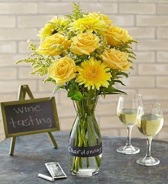 /Chardonnay Bouquet with Wine Carafe