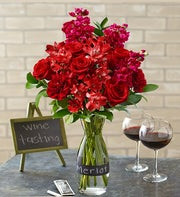 Merlot Bouquet with Wine Carafe