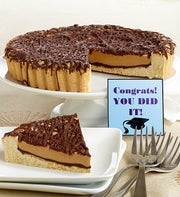 Congrats Grad! Peanut Butter Cup Cookie Pie