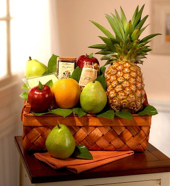 Abundant Fruit & Gourmet Large Gift Basket