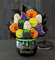 Cheryl's Halloween Cookie Flower Centerpiece