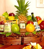 Bountiful Fruit & Gourmet Gift Basket