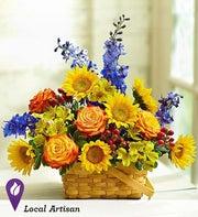Blooming Basket Arrangement