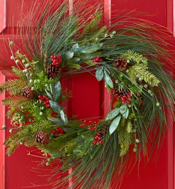 Faux Pine Wreath - 24?