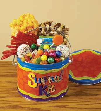 gourmet snacks in keepsake pail