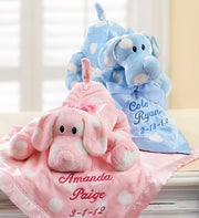 Puppy with Personalized Blanket for Boy or Girl
