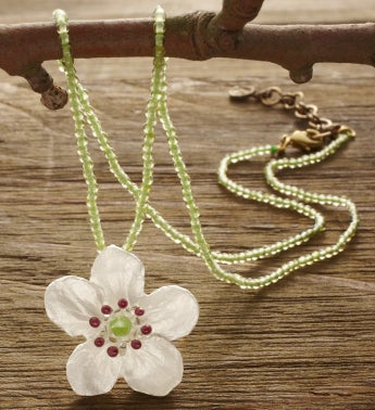 Survivor Tree Single Flower Pearl Pendant