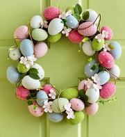 Easter Egg Wreath - 15""