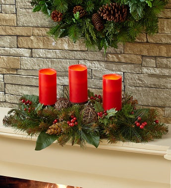 Festive Faux Candle Centerpiece