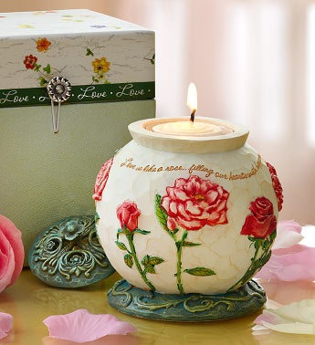 Love is Like A Rose In Bloom Candle