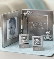 Personalized New Baby Frame and Tooth & Curl Set