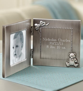 Personalized Baby Frame & Tooth & Curl Keepsake