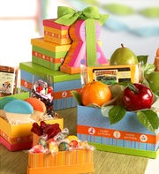 Fruit & Nuts Happy Birthday Gift - 1800baskets.com