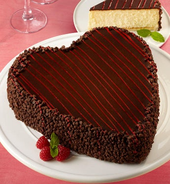 Junior's Heart-Shaped Cheesecake