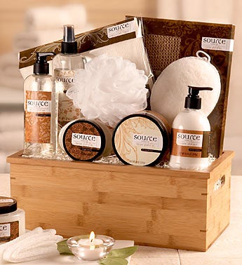Sheer Vanilla Spa Gift Basket 1800Baskets.com