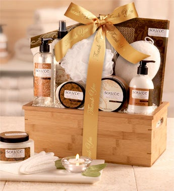 Thank You Sheer Vanilla Spa Gift Basket