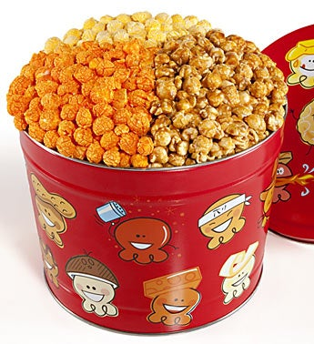 The Popcorn Factory� Popcorn Pals 3-Way Tin