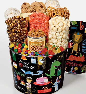 The Popcorn Factory� Birthday Animal Snack Tin 2G