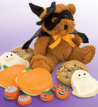 Cheryl?s Plush Masked Bear with Treat