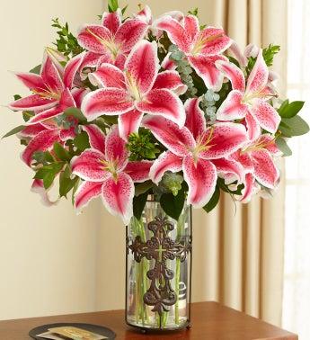 Elegant Tribute Lilies for Sympathy