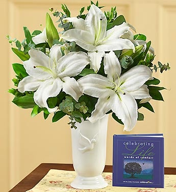 All White Sympathy Bouquet