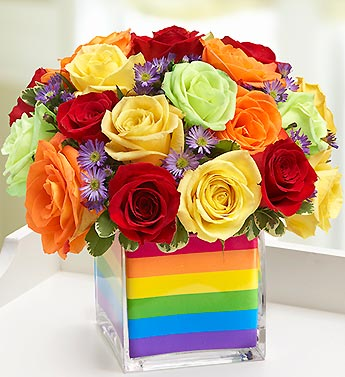 The Rainbow Bouquet? - Multicolored Roses