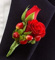 All Red Ring Bearer Boutonni�re