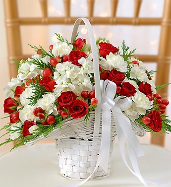 Holiday Flower Girl Basket