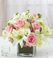 Pink and White Centerpiece Package