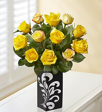 Yellow Rose Bouquet for Sympathy