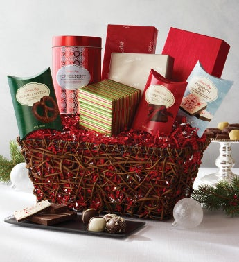 Fannie May Joyous Greetings Holiday Gift Basket