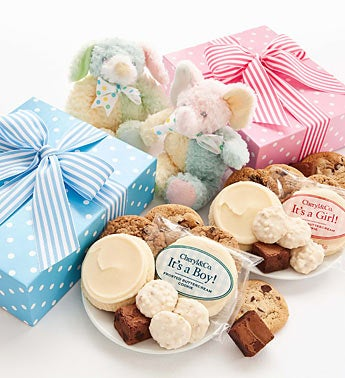 Cheryl?s New Baby Boy or Girl Treats Gift Box