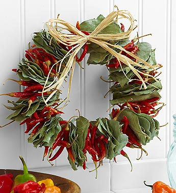 Spicy Chili Wreath - 10""