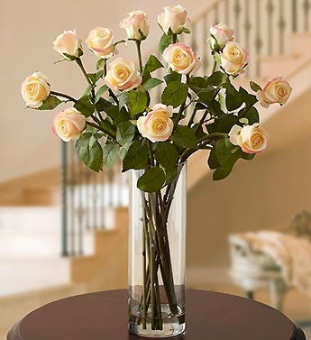 Silk Long Stem Rose Water Bouquet