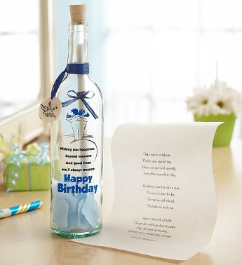 Personalized Message in a Bottle� Birthday Wishes