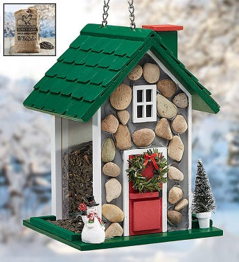 Fieldstone Christmas Birdfeeder