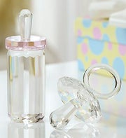 Crystal Pacifier with Baby Bottle