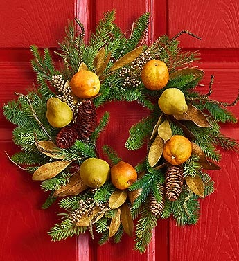 Spice Pear Wreath - 20""