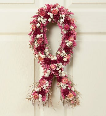 Show You Care, Be Aware Ribbon Wreath
