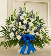 International Canada - Blue and White Sympathy Floor Basket