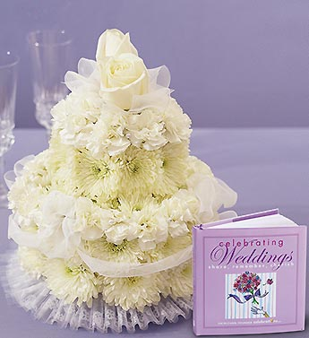 Flower Cake for Wedding with Book